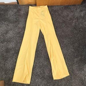 Super cute vibrant yellow high waist pants!
